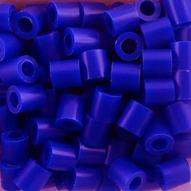 çocuklar zanaat için yaklaşık 500pcs / çanta 5mm mavi sigorta boncuk hama boncuk diy yapboz eva malzeme emniyet
