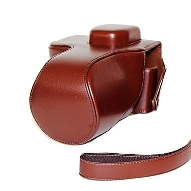 dengpin® lederen beschermhoes camera case tas hoes litchi patroon met schouderband voor Sony Alpha a7 a7r ilce-7r