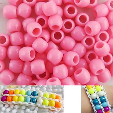ca. 100pcs 8x9mm rosa Perlmuttperlen Pony Regenbogen Farbe Webstuhl Armband diy Zubehör
