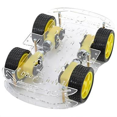 DIY 4xmotor διπλής στρώσης έξυπνη σασί του αυτοκινήτου με ταχύτητα μέτρησης κωδικοποιημένη δίσκο