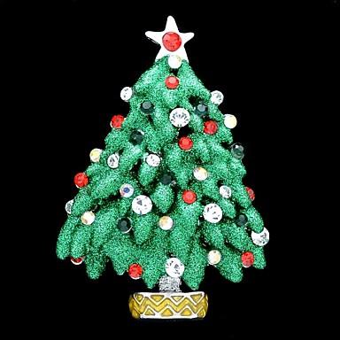 5.5cm multicolor Pom de Crăciun broșă PIN broșă pentru decorarea Crăciun