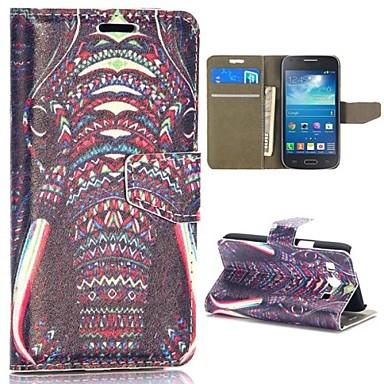 Voor Samsung Galaxy hoesje Portemonnee / Kaarthouder / met standaard / Flip / Patroon hoesje Volledige behuizing hoesje Olifant PU-leer