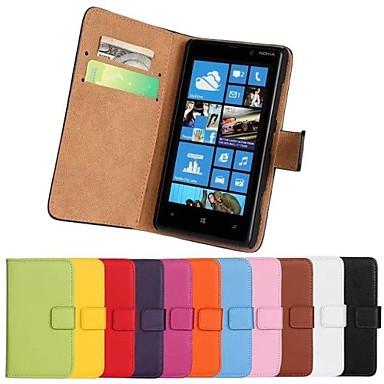 Pentru Carcasă Nokia Portofel / Titluar Card / Cu Stand Maska Corp Plin Maska Culoare solida Greu PU piele Nokia Nokia Lumia 820