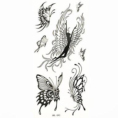 wasserdicht temporäre Tätowierung Schmetterling Aufklebertätowierungen Probenform für Körperkunst (18.5cm * 8.5cm)