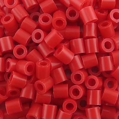 çocuklar zanaat için yaklaşık 500pcs / torba 5mm kırmızı sigorta boncuk hama boncuk diy yapboz eva malzeme emniyet