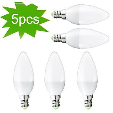 2700 lm E14 Becuri LED Lumânare C35 27 led-uri SMD 3022 Decorativ Alb Cald AC 220-240V