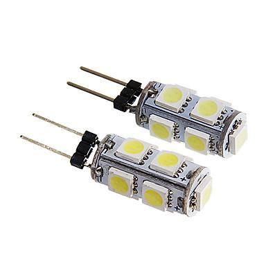 g4 9x5050smd 1.5W 140-170lm luz branca branco / quente levou lâmpada (12v 2pcs)
