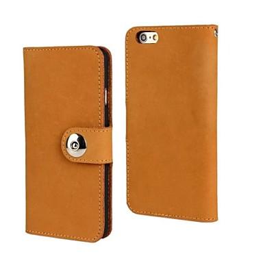 fashion® nubuck θήκη από γνήσιο δερμάτινο πορτοφόλι για iphone 6 συν 5.5 με υποδοχή κάρτας περίπτερο (διάφορα χρώματα)