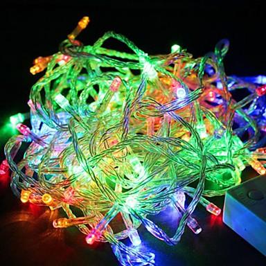1pack Φώτα σε Κορδόνι LED χάντρες LED Υψηλης Ισχύος Με ροοστάτη / Αδιάβροχη / Διακοσμητικό 110 V