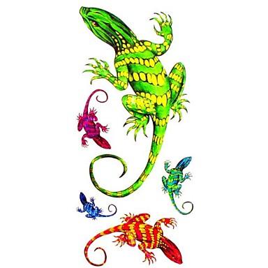 Séries Animal Tatuagem Adesiva - Estampado/Waterproof - para Feminino/Girl/Adulto/Adolescente - de Papel - Multicolorido - #(18.5*8.5)