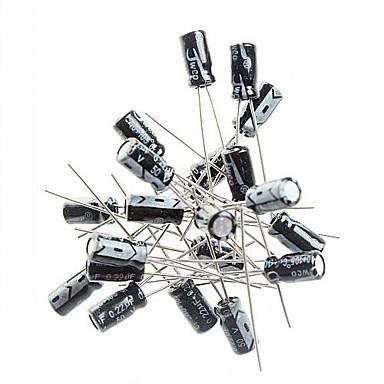 50V 0.22uf capacitores eletrolíticos (50pcs)