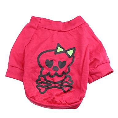 Pisici Câine Tricou Îmbrăcăminte Câini Cranii Trandafiriu Bumbac Costume Pentru Primăvara & toamnă