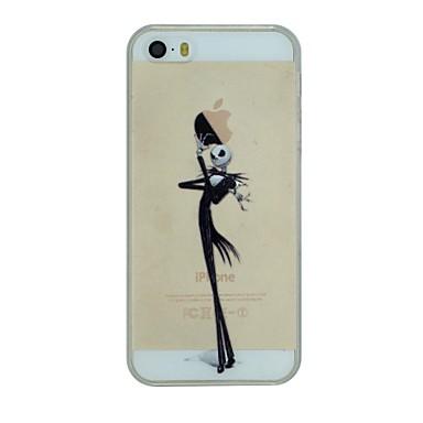 Pouzdro Uyumluluk iPhone 5 / Apple / iPhone X iPhone X / iPhone 8 Plus / iPhone 5 Kılıf Şeffaf / Temalı Arka Kapak Oynanan Apple Logosu Sert PC için iPhone X / iPhone 8 Plus / iPhone 8