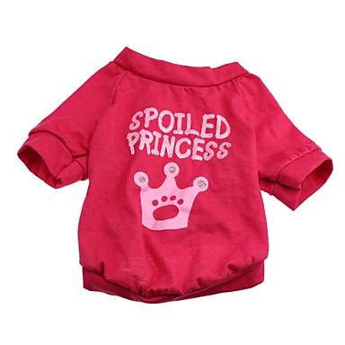 katten / honden T-shirt Roos Hondenkleding Lente/Herfst Tiara's & Kronen