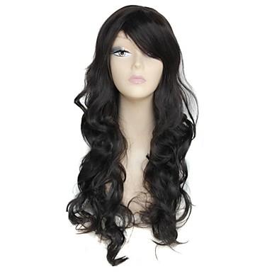 Synthetische Perücken Wellen / Klassisch Synthetische Haare 26 Zoll Perücke Damen Kappenlos