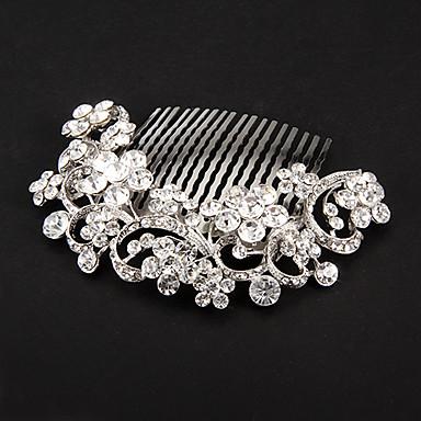 Cristal Tecido Liga Tiaras Pentes de cabelo Flores 1 Casamento Ocasião Especial Festa / Noite Capacete