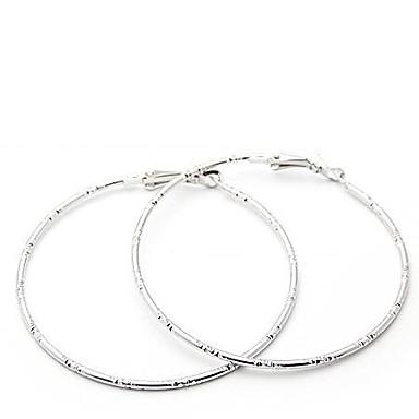 Dames Ring oorbellen - Gepersonaliseerde Eenvoudige Stijl Zilver Gouden Cirkelvorm oorbellen Voor Feest Dagelijks Causaal