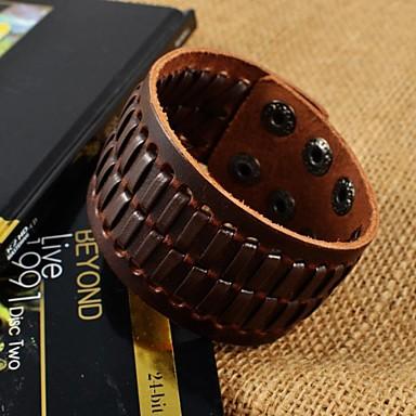 Heren Lederen armbanden Modieus Leder Bruin Sieraden Voor Dagelijks Causaal Sport