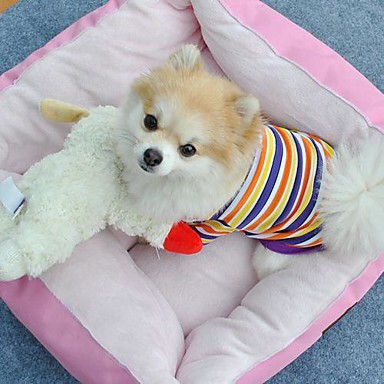 katten / honden T-shirt Geel Hondenkleding Zomer Streep Bruiloft / Cosplay