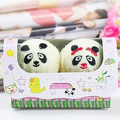 presente de aniversário panda forma fibra toalha criativo (cor aleatória) (2 pcs / set)