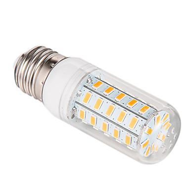 3.5W 300-350lm E26 / E27 Lâmpadas Espiga 48 Contas LED SMD 5730 Branco Quente 220-240V