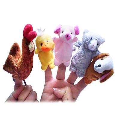 Κοτόπουλο Πάπια Σκύλοι Γουρούνι Μαριονέτες δακτύλου Μαριονέτες Χαριτωμένο Lovely Πρωτότυπες Κινούμενα σχέδια Υφασμα Χνουδωτό Κοριτσίστικα