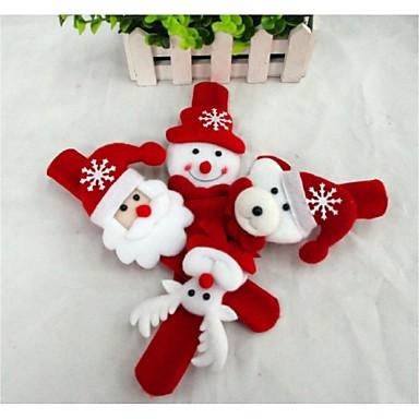 Presentes de Natal Brinquedos de Natal Pulseira Bate Enrola Brinquedos Boneco de neve Fofinho Papai Noel Crianças Infantil 1 Peças