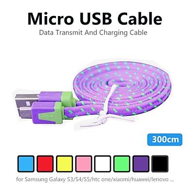 Micro-USB 2.0 Adaptador de cabo USB Normal Cabo Para PVC