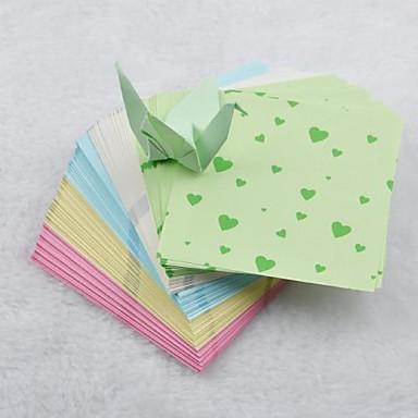5 cor coração 6,5 centímetros padrão papercranes materiais origami (150 páginas / pacote)