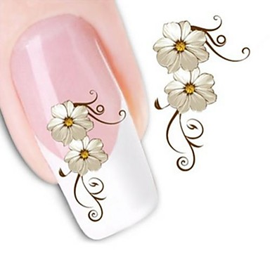 1 Nagelkunst sticker Wateroverdracht Sticker Bloem make-up Cosmetische Nagelkunst ontwerp