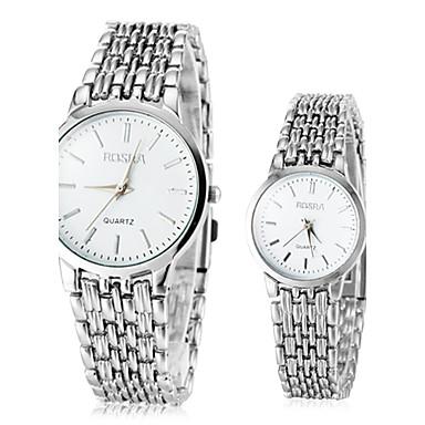 Bărbați pentru Doamne Pentru cupluri Ceas Elegant Quartz Aliaj Bandă Argint Argintiu