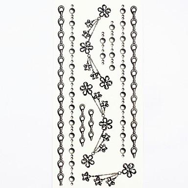 - Dövme Etiketleri - Temalı/Waterproof - Mücevher Serileri - Kadın/Girl/Yetişkin/Genç - Çokrenkli - Kağıt - #(1) -Adet #(18.5*8.5)