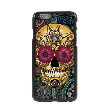 bloemblaadje schedel design aluminium Hard Case voor iPhone 6