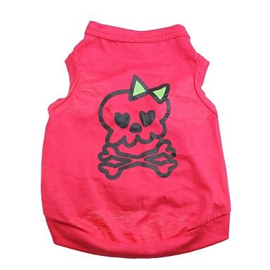 Katze Hund T-shirt Hundekleidung Herz Totenkopf Motiv Rose Baumwolle Kostüm Für Haustiere