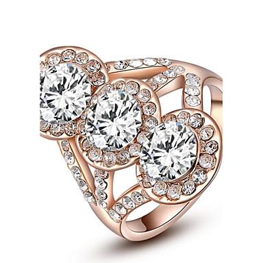 Anéis Casamento / Pesta / Diário / Casual Jóias Cristal / Chapeado Dourado Feminino Anéis Statement6 / 7 / 8 Dourado