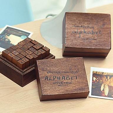 28pcs Ξύλινος Ξύλο Πάρτι Γραφείο / Καριέρα Γραμματόσημα Κουτιά για Γραμματόσημα