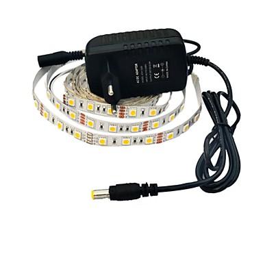 2,5m Esnek LED Şerit Işıklar 150 LED'ler 5050 SMD Beyaz