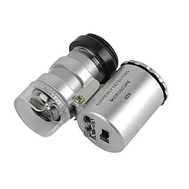 universell 60x mikroskop lins inställd för iphone / ipad / samsung / htc + mer mobiltelefon / tablet pc
