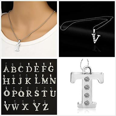 cheap Necklaces-Pendant Necklace Monograms Ladies Initial Alloy X Y Z Necklace Jewelry 1pc For Party Daily Casual