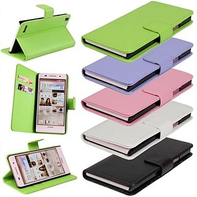 Coque Pour Huawei Coque Huawei Portefeuille Porte Carte Avec Support Clapet Coque Intégrale Couleur unie Dur Cuir PU pour Autre