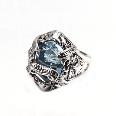 Homens Maxi anel Moda Pedras preciosas sintéticas Cristal Liga Jóias Para Festa Diário Casual Presentes de Natal
