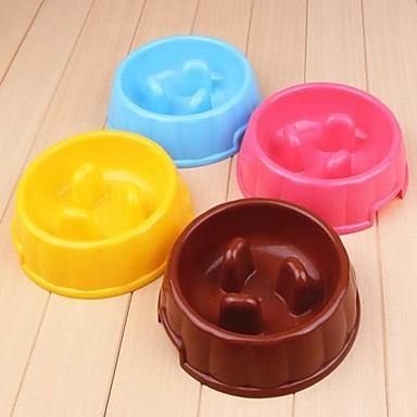 castron rotund din plastic pentru caini de companie (culoare aleatorii)
