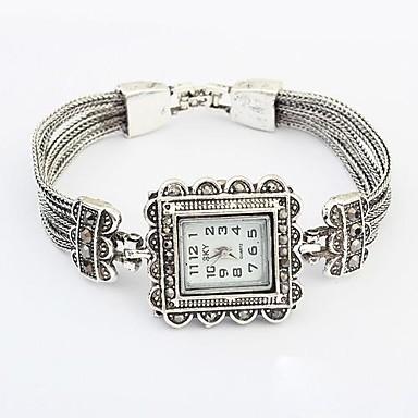 pentru Doamne Ceas Brățară Quartz Aliaj Bandă Flori Elegant Argint