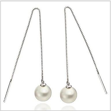 Γυναικεία Κρεμαστά Σκουλαρίκια Ασήμι Στερλίνας Απομίμηση Μαργαριταριού Κοσμήματα Γάμου Πάρτι Καθημερινά Causal Κοστούμια Κοσμήματα