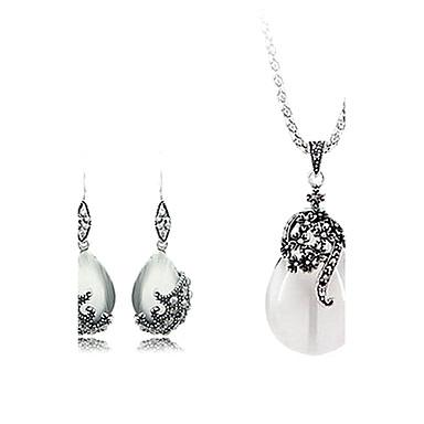 Dames Sieraden Set Modieus Europees Feest Verjaardag Verloving Dagelijks Causaal Opaal  Legering Drop Oorbellen Kettingen