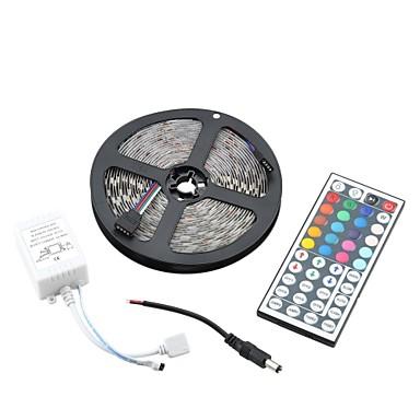 5m Flexible LED-Leuchtstreifen LEDs 5050 SMD RGB Fernbedienungskontrolle / Schneidbar / Verbindbar 12 V / IP65 / Für Fahrzeuge geeignet