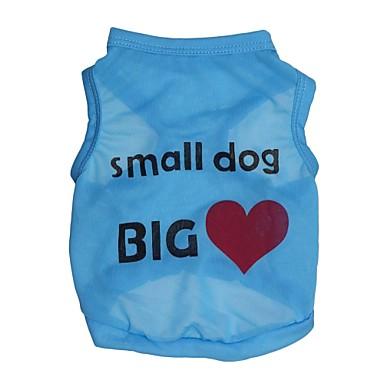 Kedi Köpek Tişört Köpek Giyimi Kalp Harf & Sayı Mavi Pembe Terylene Kostüm Evcil hayvanlar için