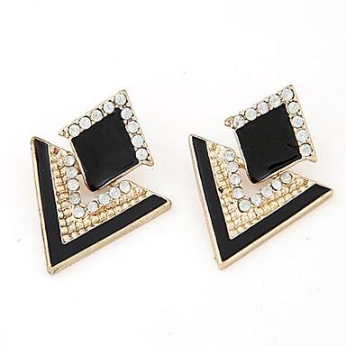 femme boucles d 39 oreille goujon mode bijoux de luxe personnalis elegant strass imitation diamant. Black Bedroom Furniture Sets. Home Design Ideas