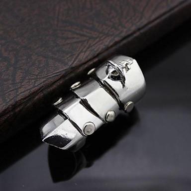 Erkek Bildiri Yüzüğü - Moda 6 Gümüş Uyumluluk Yılbaşı Hediyeleri / Parti / Günlük