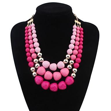 Feminino Personalizada Europeu Multi Camadas Colares Declaração colares em camadas Liga Colares Declaração colares em camadas ,